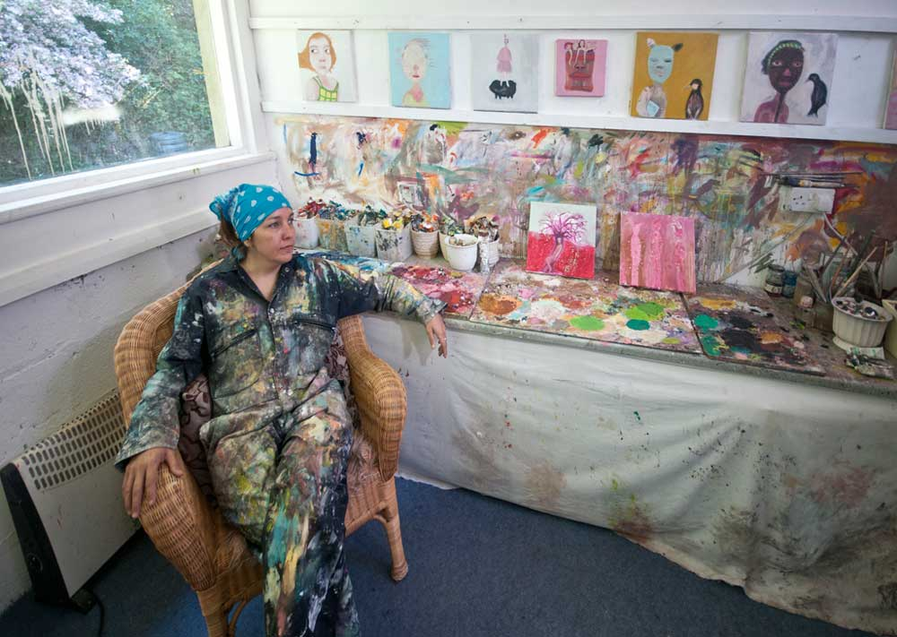 siobhan purdy in her studio at krowji
