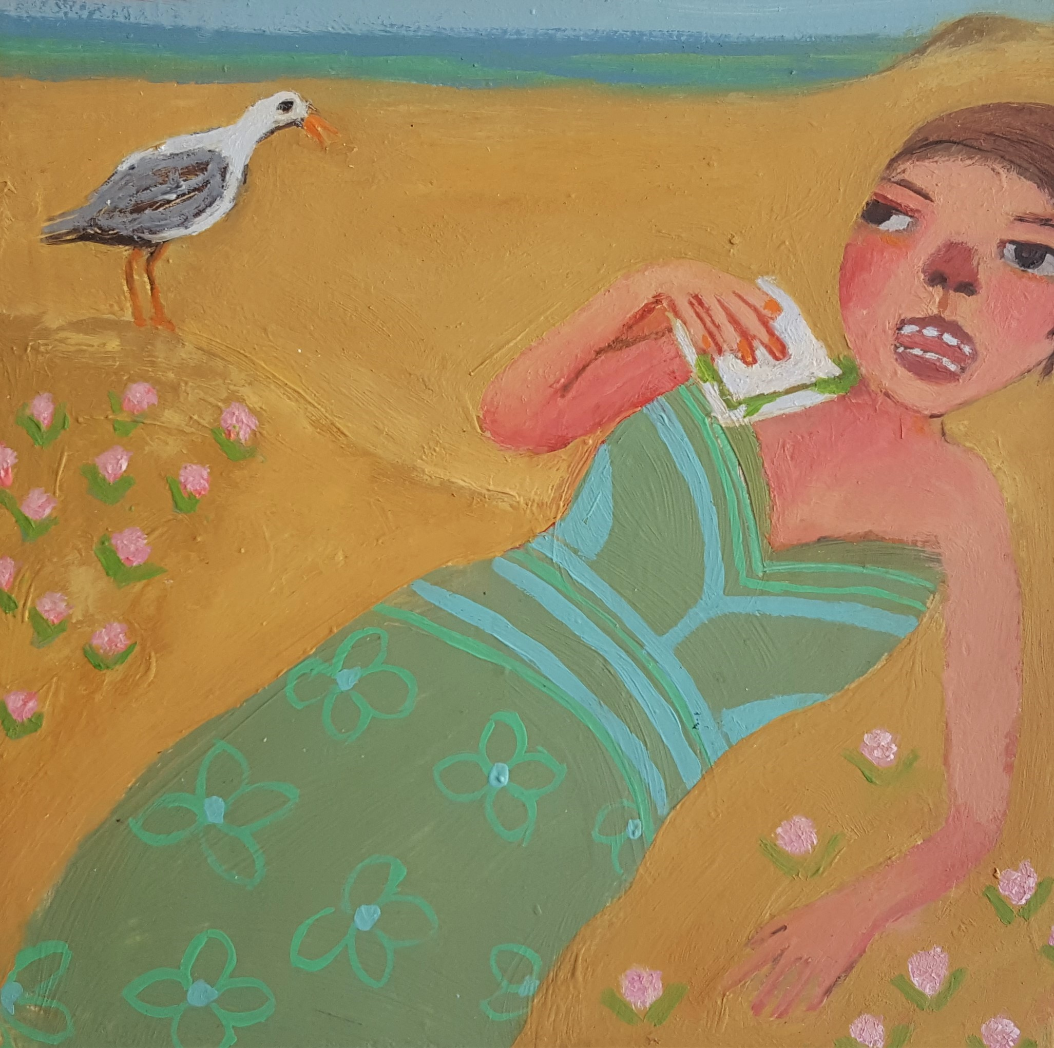 'Sandwich Thief' by Siobhan Purdy, shown at the Byre Gallery