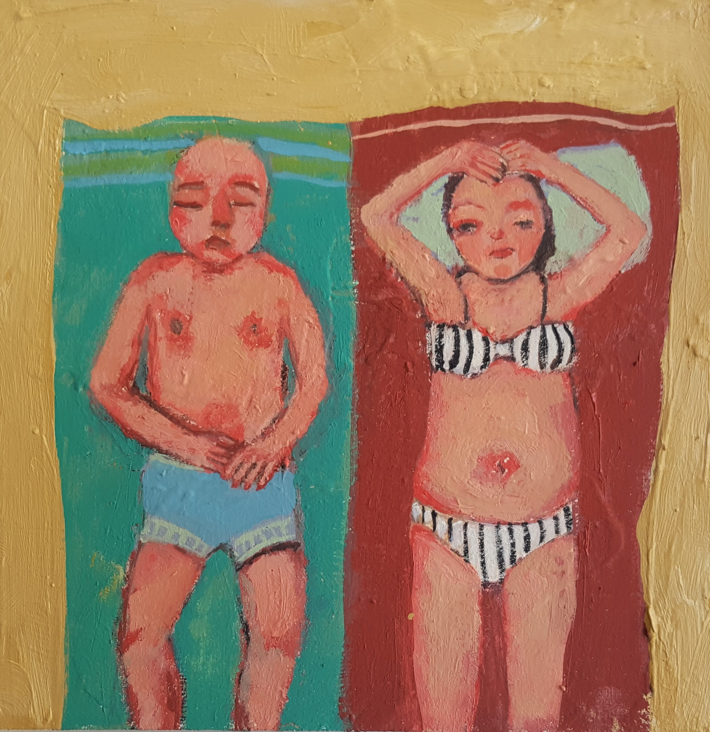 'Sun Bathing' by Siobhan Purdy, shown at the Byre Gallery