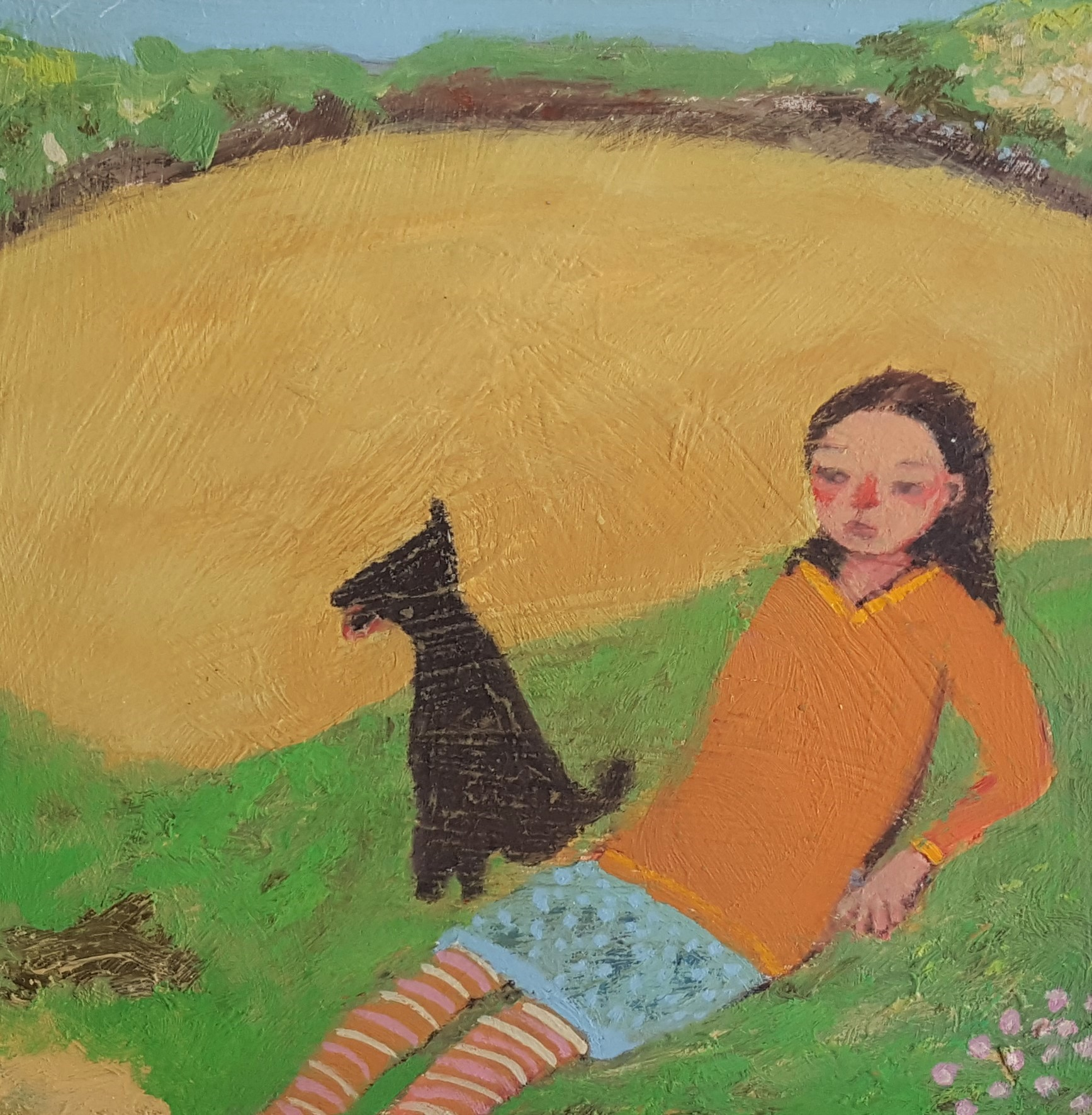 'Walking the Woof' by Siobhan Purdy, shown at the Byre Gallery